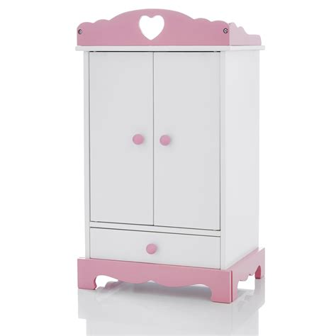 Doll Wardrobe by Molly Dolly Dolls Wooden Wardrobe Clothes Closet Chest
