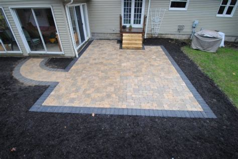 pictures of patios with pavers pavers and patios patio with wood border patio with paver