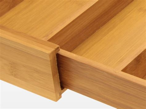 Simple Drawer Construction by Expandable Drawer And Flatware Organizer Bamboo Kitchen