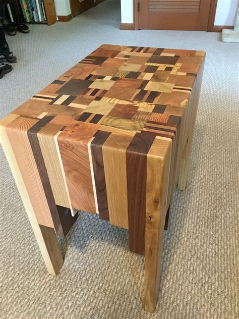 beautiful side table  scrap timber pieces