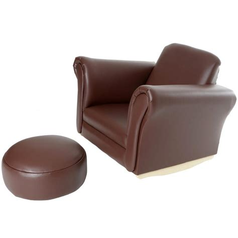 children s armchair azuma kids pu leather look rocker rocking armchair seat