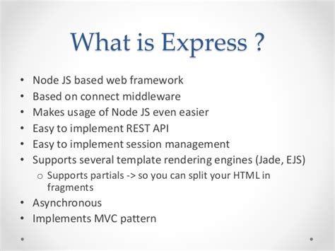 tutorialspoint node js express mean stack