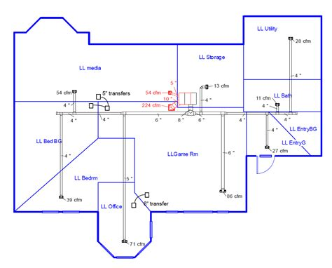 hvac duct diagram duct design 5 sizing the ducts energy vanguard