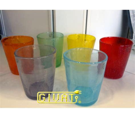 bicchieri colorati vetro bicchieri colorati in vetro