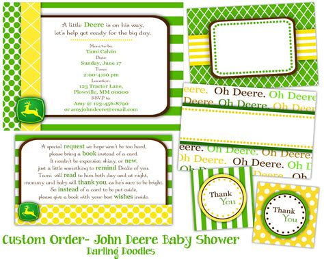 Free Printable John Deere Baby Shower Invitations Eysachsephoto Com Free Deere Invitation Template