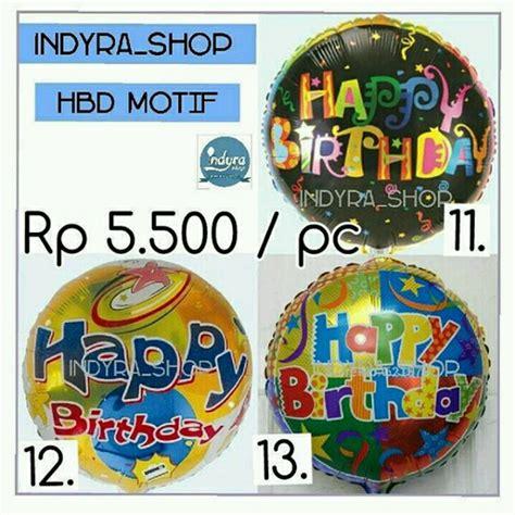 Balon Huruf Foil Hbd Happy Birthday jual balon foil huruf tulisan happy birthday hbd pesta