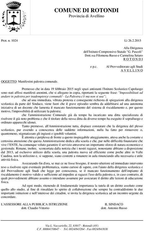 lettere di lamentela rotondi professore chiude la palestra la protesta