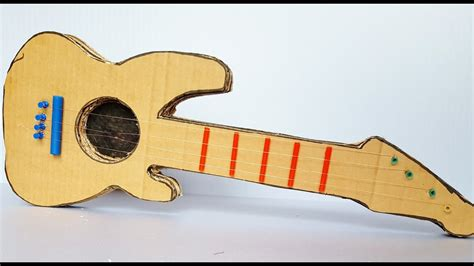 How To Make A Paper Guitar Model - how to make a cardboard guitar at home