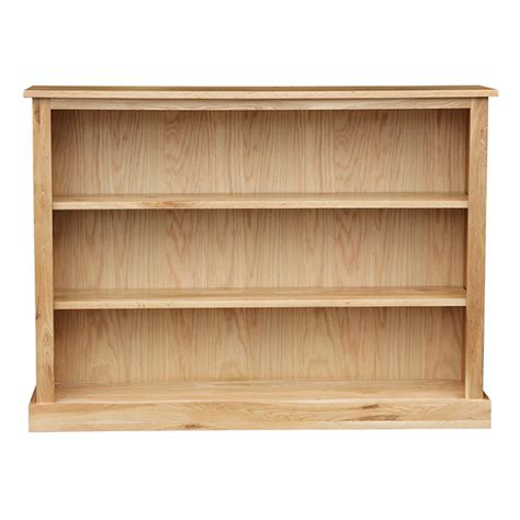 oak occasional wide low bookcase