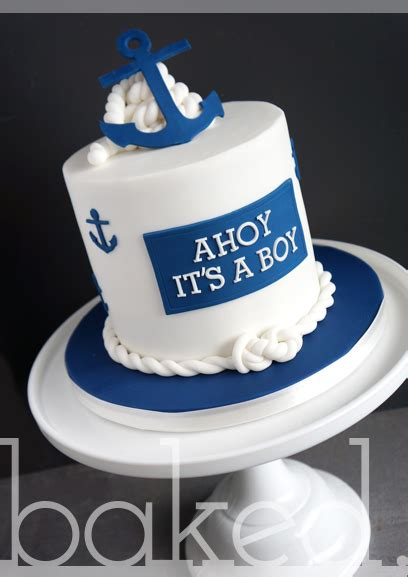 anchor baby shower cake baked cupcakery east cupcakes and cakes from