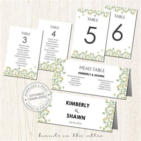 wedding guest table cards template 39 best wedding table numbers seating images on