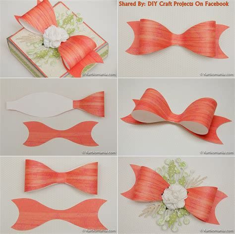 paper bow template diy paper bow with printable template diy craft projects