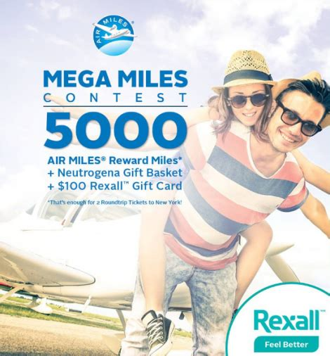 Air Miles Sweepstakes Winners - enter rexall mega miles contest
