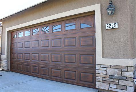 wood look carriage garage doors