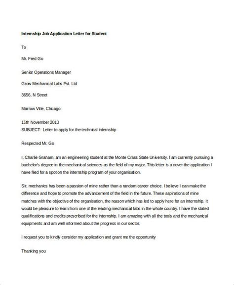 application letter for internship 28 images 14