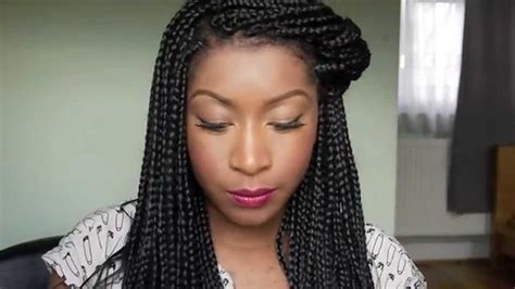 box braid styles for work braided big box hair styles for black women how i style my