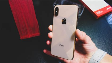 apple iphone xs gold 64gb unboxing
