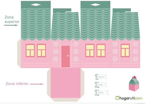 house gift paper house gift box template paper format