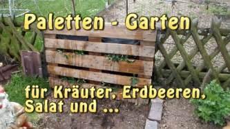 Paletten Garten Vertical Gardening Youtube