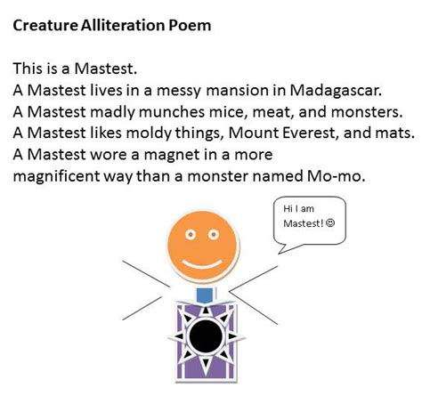 alliteration poem template alliteration poem template 15 decorating creature alliteration poems