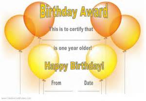 Birthday Certificate Template by Free Happy Birthday Certificate Template Customize