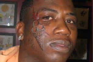 Deadly Women Too Close For Comfort Why Did Gucci Mane Tattoo An Ice Cream Cone On His Face