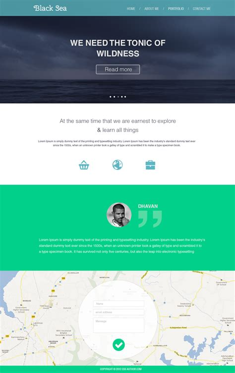 flat design template psd 16 premium and free psd website templates