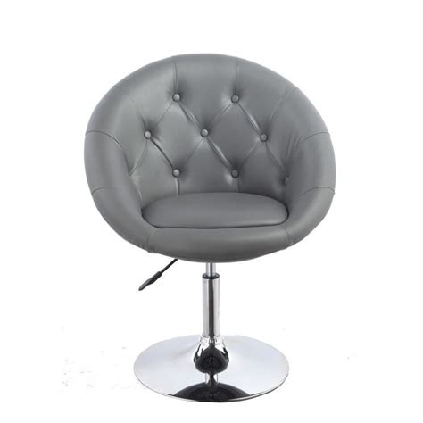 fauteuil oeuf capitonn 233 design cuir pu chaise bureau gris
