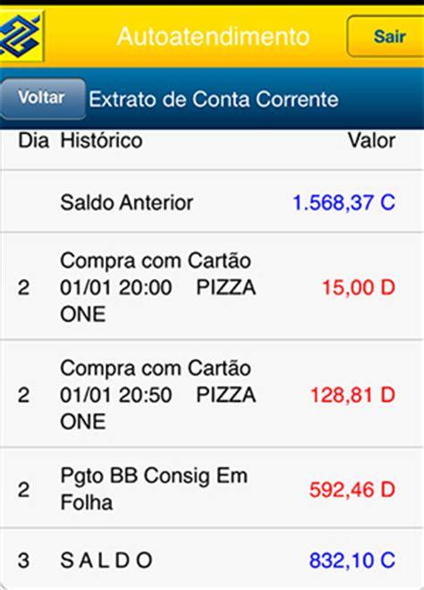 extrato rendimentos banco do brasil extrato do banco do brasil cr 233 dito e d 233 bito