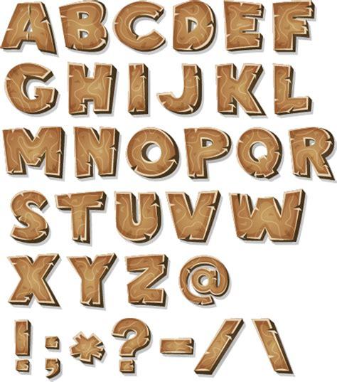 wood texture alphabet  sign vector