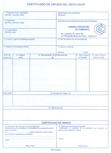 certificado cmara de comercio con vigencia mnima 15 das carta de c 225 mara de comercio de puerto iguaz 250 certificados de origen