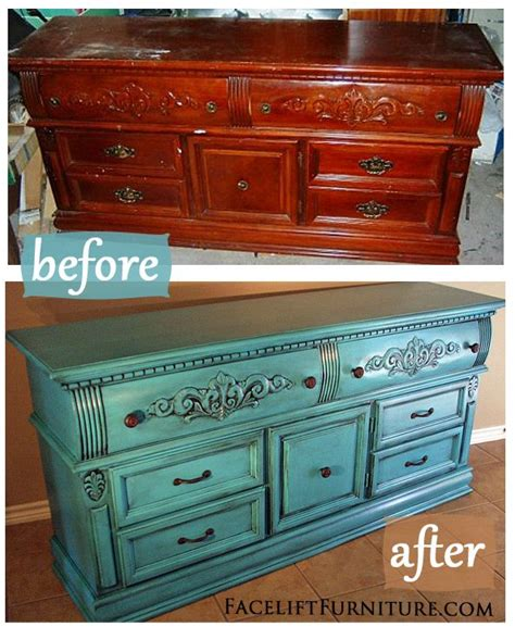 painting bedroom furniture before and after turquoise dresser glazed black before after dresser