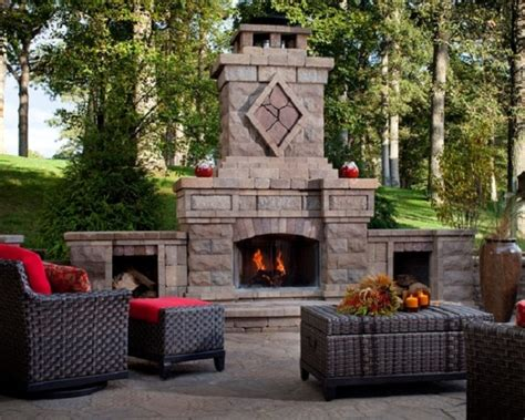 Outdoor Stone Fireplace surrounds and fireplace designs