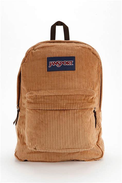 corduroy backpack jansport high steaks corduroy backpack in brown lyst