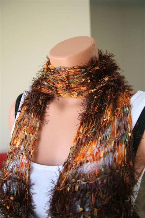 scarf pattern novelty yarn 17 best images about novelty scarves knit or crochet on