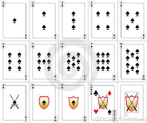 card sts cards set spades stock image image 18828841