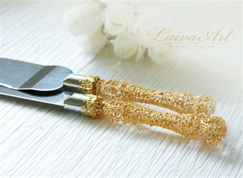 wedding cake knife set gold gold wedding cake server set knife gold wedding