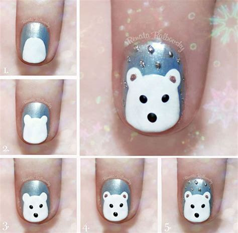 nail art winter tutorial 10 simple winter nail art tutorials for learners 2016