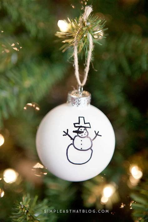 simple sharpie diy christmas ornaments allfreekidscrafts com