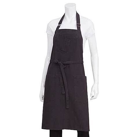 bed bath and beyond rockford buy chef works 174 rockford canvas bib apron in gray from bed bath beyond