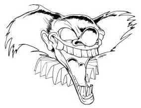 scary coloring pages scary clown coloring pages coloring home