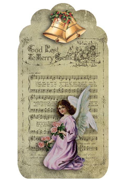 imagenes angeles vintage etiquetas retro de angeles para navidad para imprimir