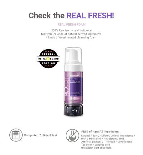 Neogen Real Fresh Foam Green Tea 160gr neogen real fresh foam cleanser 160g 4 types to choose hermo shop singapore