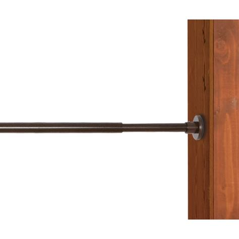 espresso curtain rod versailles stainless steel duo tension rod in espresso