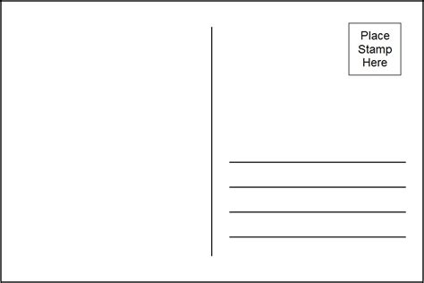 4x6 postcard template word bing images