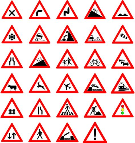 printable road signs and meanings traffic street road signs clip art at clker com vector