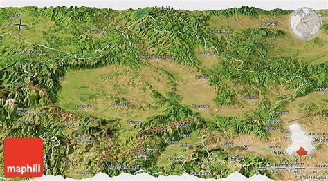 maps kosovo satellite satellite panoramic map of kosovo