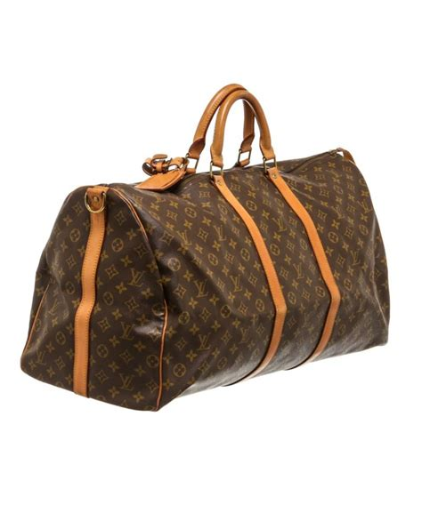 lyst louis vuitton pre owned monogram canvas leather