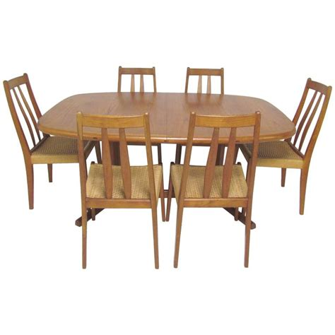 Oval Dining Room Tables And Chairs by Teak Dining Set Expandable Oval Table And Six Chairs Circa 1970s At 1stdibs
