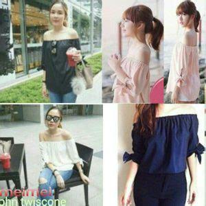 Atasan Sabrina Baju Atasan Wanita baju atasan in pendek cantik murah